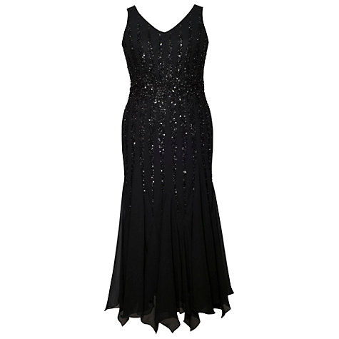 Buy Chesca Diamond Beaded Dress, Black Online at johnlewis.com
