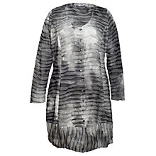 Buy Chesca Ribbed Tie Dye Cardigan, Granite Online at johnlewis.com