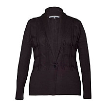 Buy Chesca Cable Detail Collar Cardigan, Granite Online at johnlewis.com