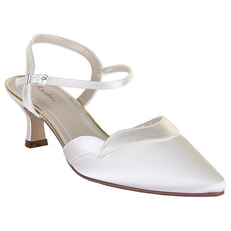 Buy Rainbow Club Annie Satin Slingback Sandals, Ivory Online at johnlewis.com