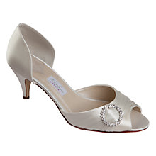 Buy Rainbow Club Ario Satin D'Orsay Peep Toe Court Shoes, Ivory Online at johnlewis.com