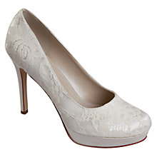 Buy Rainbow Club Ella Lace Platform Stiletto Court Shoes, Ivory Online at johnlewis.com