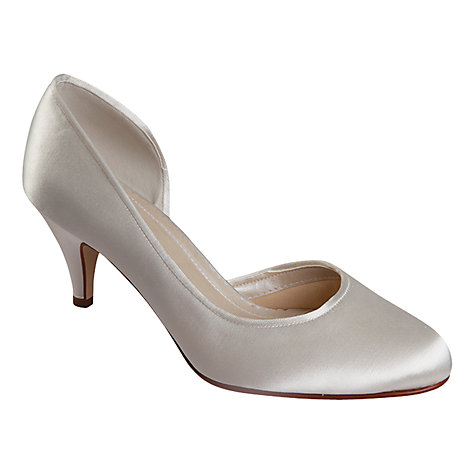 Buy Rainbow Club Faith D'Orsay Satin Court Shoes, Ivory Online at johnlewis.com