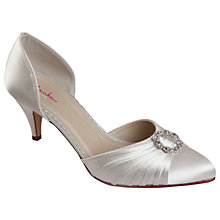 Buy Rainbow Club Tanya Diamanté Court Shoes, Ivory Online at johnlewis.com