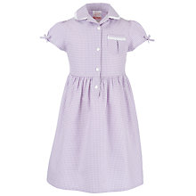 Buy John Lewis Check Print Cotton Summer Dress, Lilac Online at johnlewis.com