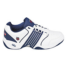 Buy K-Swiss Men's Accomplish Outdoor Tennis Shoes, White/Navy Online at johnlewis.com
