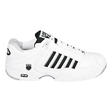 Buy K-Swiss Men's Defier Outdoor Tennis Shoes, White/Black Online at johnlewis.com