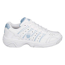 Buy K-Swiss Women's Grancourt II Outdoor Tennis Shoes, White/Blue Online at johnlewis.com