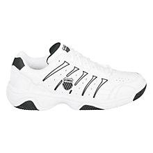 Buy K-Swiss Men's Grancourt II Outdoor Tennis Shoes, White/Black Online at johnlewis.com