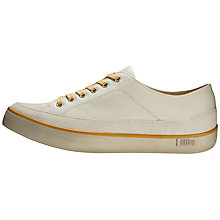 Buy FitFlop Super T Leather Women's Trainers, Urban White Online at johnlewis.com