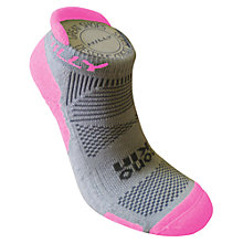 Buy Hilly Monoskin Padded Women's Socklet, Grey/Pink Online at johnlewis.com