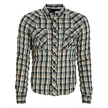 Buy Denham Crinkle Check Shirt, Green Online at johnlewis.com