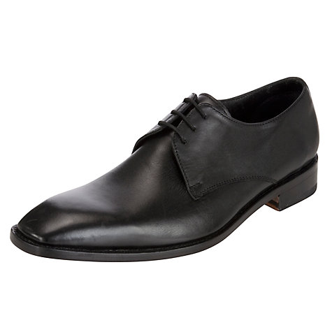 Buy John Lewis Malvern Calf Leather Derby Shoes, Black Online at johnlewis.com