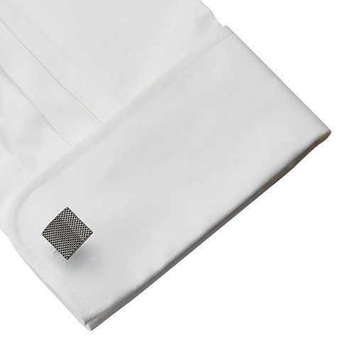 Buy John Lewis Textured Square Cufflinks, Grey Online at johnlewis.com