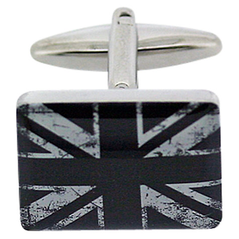 Buy John Lewis Union Jack Cufflinks, Black/White Online at johnlewis.com
