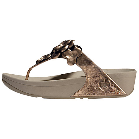 Buy FitFlop Pretty Fleur Leather Sandals Online at johnlewis.com