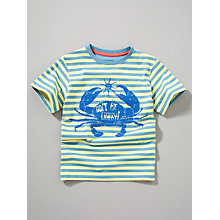 Buy John Lewis Boy Short Sleeve Crab T-Shirt, Blue/Yellow Online at johnlewis.com
