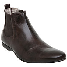Buy Dune Cabo Leather Chelsea Boots, Brown Online at johnlewis.com