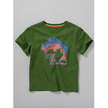 Buy John Lewis Boy Fishing Tournament T-Shirt, Green Online at johnlewis.com