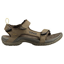 Buy Teva Men's Tanza Leather Sandals, Brown Online at johnlewis.com