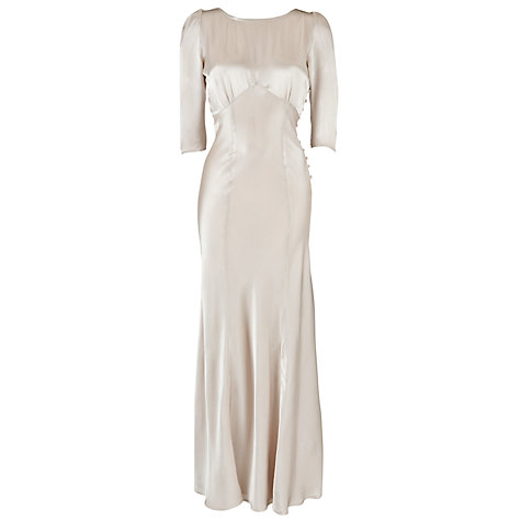 Buy Ghost Giselle Sleeved Maxi Dress, Nude Online at johnlewis.com