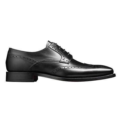 Buy Barker Toddington Leather Brogue Shoes, Black Online at johnlewis.com