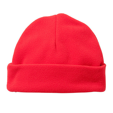 Buy School Plain Fleece Hat, Red Online at johnlewis.com