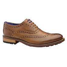 Buy Ted Baker Guri Leather Brogue Oxford Shoes, Tan Online at johnlewis.com