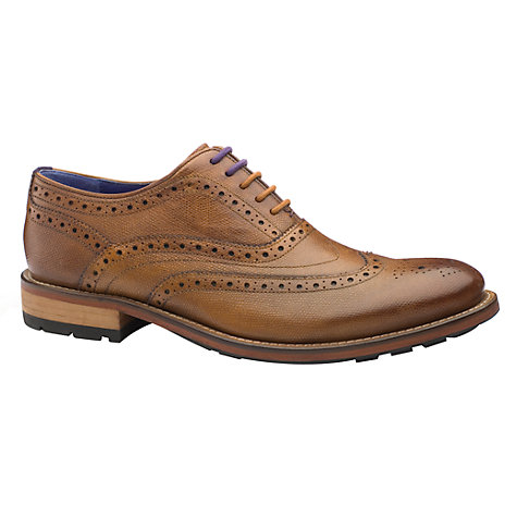 Buy Ted Baker Guri 7 Oxford Brogue Leather Shoe, Tan Online at johnlewis.com