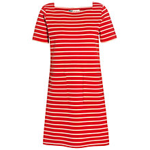 Buy Jaeger Olivia Button Back Dress, Red Online at johnlewis.com