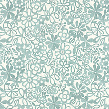 Buy John Lewis Collette PVC Tablecloth Fabric, Aqua Online at johnlewis.com