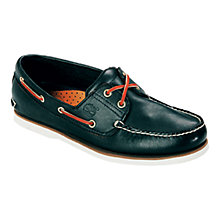 Buy Timberland Classic 2-Eyelet Leather Boat Shoes, Navy Online at johnlewis.com