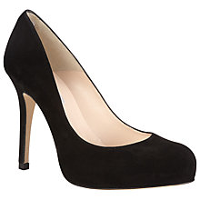 Buy L.K. Bennett Harper Suede Court Shoes, Black Online at johnlewis.com