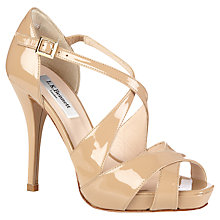 Buy L.K. Bennett Sandy Cross-Over Stilleto Heeled Sandals, Taupe Patent Online at johnlewis.com