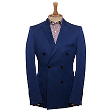 Buy Joe Casely-Hayford for John Lewis Double-Breasted Amara Pique Blazer, Navy Online at johnlewis.com