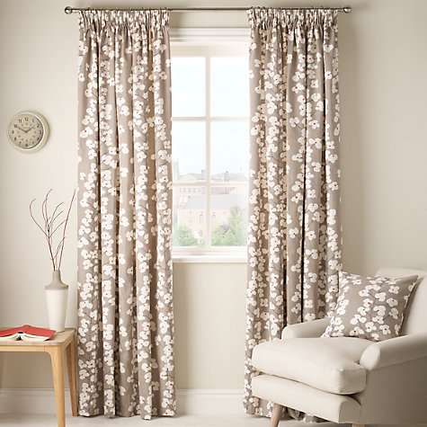 Buy John Lewis Wallflower Lined Pencil Pleat Curtains Online at johnlewis.com