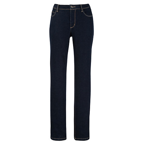 Buy John Lewis High Rise Straight Leg Jeans, Indigo Online at johnlewis.com
