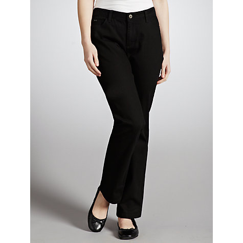 Buy John Lewis High Rise Straight Leg Jeans, Black Online at johnlewis.com