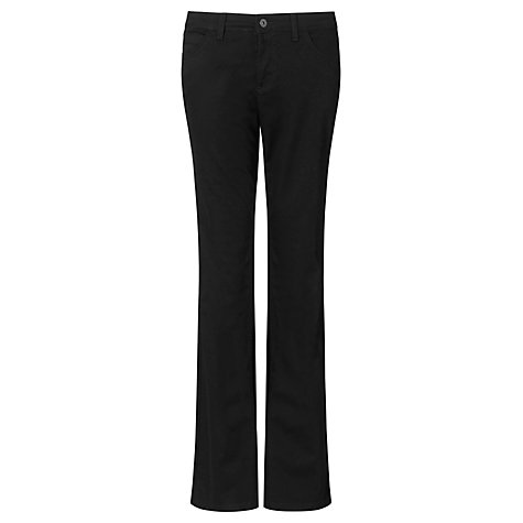 Buy John Lewis Mid Rise Bootcut Jeans, Black Online at johnlewis.com