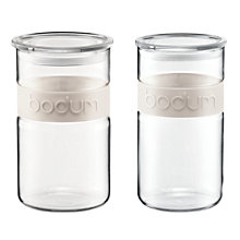 Buy Bodum Presso Glass Storage Jars, White Online at johnlewis.com