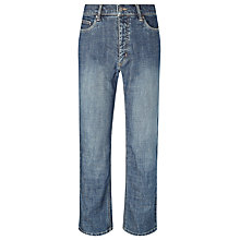 Buy John Lewis Stretch Ringspun Straight Denim Jeans Online at johnlewis.com