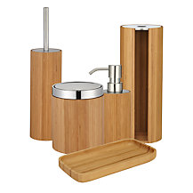 John Lewis Rubberised Bamboo Bathroom Accessories