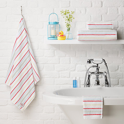Buy Cath Kidston Cheshire Stripe Towels, Multi Online at johnlewis.com
