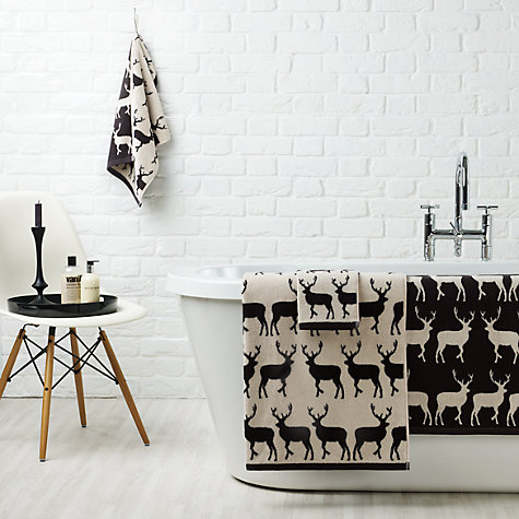 Buy Anorak Kissing Stags Towel, Black Online at johnlewis.com