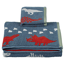 Buy little home at John Lewis Dinotastic Towels, Multi Online at johnlewis.com