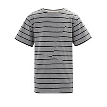 Buy Worn & Torn Cut & Sew T-Shirt, Grey/Charcoal Online at johnlewis.com