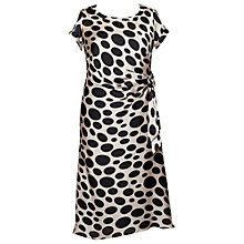 Buy Chesca Spot Print Slip Dress, Barley/Black Online at johnlewis.com