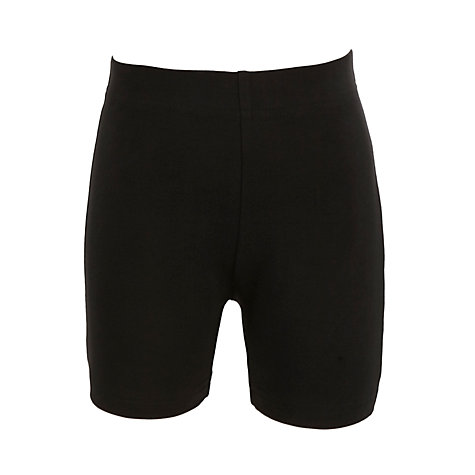 Buy John Lewis School Unisex Cycle Shorts, Black Online at johnlewis.com