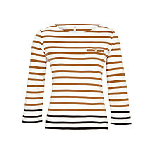 Buy CC Jersey Stripe Pocket Top, Toffee Online at johnlewis.com