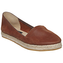 Buy Bertie Lister Leather Espadrilles, Brown Online at johnlewis.com